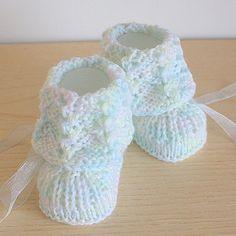 Knitting Pattern PDF file Lace Cuff Baby by loasidellamaglia