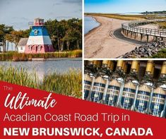 From Miscou Island on the Acadian Peninsula to Murray Beach near Confederation Bridge, we share the best things to do on an Acadian Coast road trip through New Brunswick, Canada New Brunswick Canada, East Coast Travel, Canada Travel, Canada Trip, Newfoundland And Labrador, Prince Edward Island, Vacation Trips, Trip Planning, Road Trip