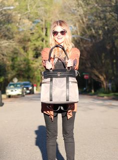 The Louise Backpack Diaper Bag by Newlie.com Baby Diaper Bags, Diaper Bag Backpack, Maternity Style, Maternity Fashion, Fashionable Diaper Bags, Money Bags, Everything Baby, Diapers, Baby Gear