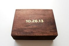 DIY Wedding Ring Box (I might ask my daddy to make me one of these! I love it!)
