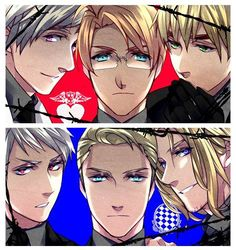 Hetalia Russia America England Prussia Germany France