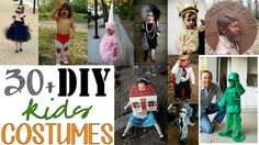 30+ DIY Halloween Kids Costumes - a must-see list! #halloween  IDEA to share...At Dragoncon this month we saw a group dressed up as the periodic table of elements. ie: Copper (CU) was dressed as a British Copper,    Thorium was Thor with a hammer, Mercury had wings...you get the idea. Great for older kids and adults.