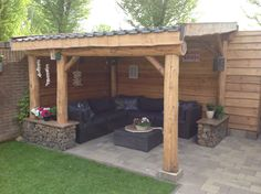 Backyard Patio Designs, Pergola Patio, Outside Living, Outdoor Living, Outdoor Decor, Backyard Furniture, Modern Pergola, Garden Bar, Small Garden Design