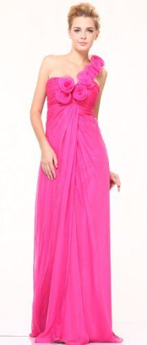 #10530 Rosettes One Shoulder Chiffon Pageant Occasion Evening Prom Dress Cinderella, http://www.amazon.com/dp/B004M7HY4W/ref=cm_sw_r_pi_dp_CNMBqb1K6RCY2
