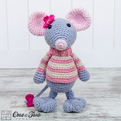 $7.64 pattern --Emily the Mouse Amigurumi PDF Crochet Pattern by oneandtwocompany