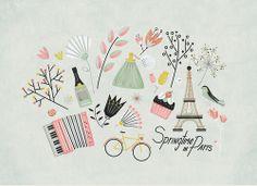 Victoria Fernandez - Springtime in Paris poster for The Snowflake Ball´s Springtime in Paris, May 4, 2013, Ottawa.