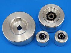 """Complete Belt Knife Grinder Wheel Set ,5"""" Drive 3/4"""" bore, 4"""" Tracking, 2""""Idler"""