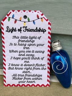Excited to share this item from my shop: Friendship Bulb Inexpensive Christmas Gifts, Christmas Gifts For Coworkers, Homemade Christmas Gifts, Diy Christmas Ornaments, Christmas Projects, Holiday Crafts, Holiday Fun, Christmas Holidays, Christmas Decorations