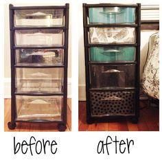 Plastic Storage Drawer w/ scrapbook paper: use as dresser, scrapbook paper hides contents. Dorm space saving! Thats a great idea!