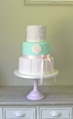 Top and bottom (stripes and polka dots) with the scalloped edge.  Possible with buttercream?