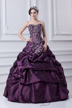 Ball Gown Sweetheart Taffeta Embroidery Quinceanera Dress