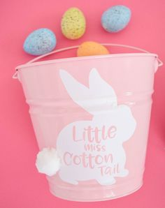 Free Easter Bunny SVG Files. Download your free bunny svg to create your own DIY Easter bucket with adhesive vinyl. Easy step by step video tutorial.