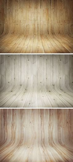 3 Fondos de madera curvos | 3 Curved wood backgrounds
