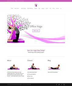 yoga or mental wellness website pre made wordpress template by