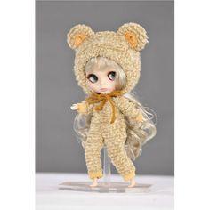 Estilo Oso marrón Vestido para 30 cm blythe muñecas bjd y para barbie Ropa hecha por BDCOLE