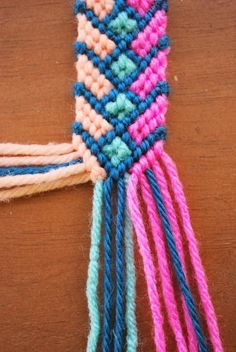 OH SO PRETTY the DIARIES: the diy: crazy complicated friendship bracelet. But it looks so cute :( .