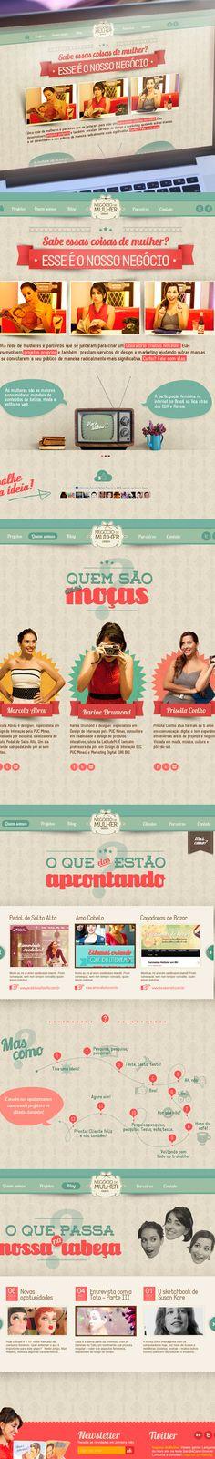 Negócio de Mulher by Marcela Abreu, via Behance