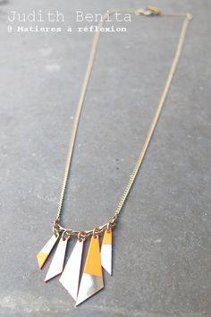 Judith Benita collier Apache rouge fluo #judithbenita #rouge #red #neon #neonred #rougefluo #collier #necklace #apache #bijoux #jewel #madeinfrance #frenchdesign