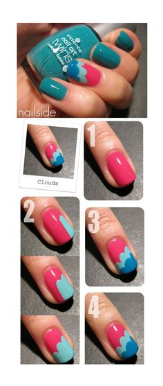 Easy Nail Art Tutorials I'm pretty sure you can just use a dotting tool and make three close dots and with one or two strokes of a brush under the dots, it would give you the same results :)