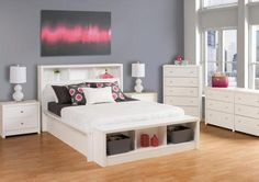 Calla White Queen Bedroom Set by Prepac