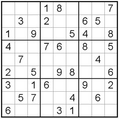 Daily Sudoku in Large Print: Easy Sudoku Number Puzzles, Sudoku Puzzles, Jigsaw Puzzles, Activity Sheets For Kids, Black And White Painting, Critical Thinking, Large Prints, Mathematics, Inventions