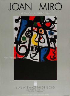 Joan Miró Original Artist Poster 1986 – Art & Vintage Store Ltd Art Vintage, Original Vintage, Vintage Posters, Spanish Painters, Spanish Artists, Museum Poster, Creative Poster Design, Poster Design Inspiration, Exhibition Poster