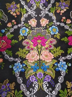 Check Printing, Printing On Fabric, Aubusson Rugs, Edwardian Dress, Blouse Designs, Embroidery Designs, Hot Pink, Illustration Art, Wallpaper