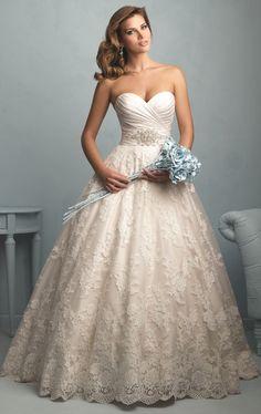 Wedding Dress, White/Ivory Sweetheart Lace Wedding Dress, Bridal