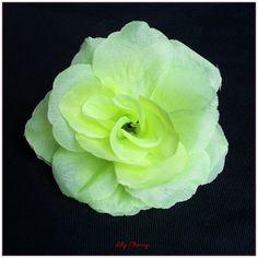 Fleur artificelle Rose couleur VERTE CLAIR taille 8cm environ x1 : Décoration florale par lilycherry