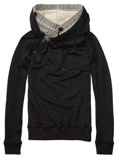Home Alone Sweater With Double Layer Hood > Womens Clothing > Sweaters at Maison Scotch