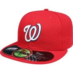 MLB Washington Nationals Game AC On Field Fitted Polyester Performance  Fabric Official On Field Cap worn by all Major League Players Cool Base  technology ... e9edbc15184
