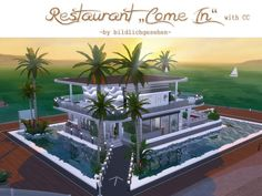 "Akisima Sims Blog: Restaurant ""Come in"" • Sims 4 Downloads"