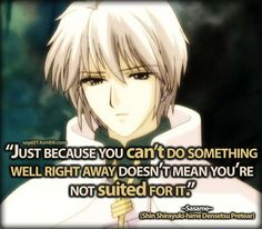 "Pretear quotes | Shin Shirayuki-hime Densetsu Pretear~""Just because you can't do ..."