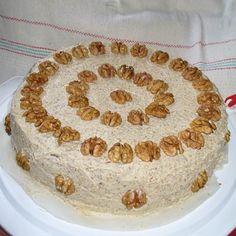 Diótorta (régi recept) Recept képpel - Mindmegette.hu - Receptek Hungarian Desserts, Hungarian Cuisine, Hungarian Recipes, Hungarian Food, Cake Recipes, Dessert Recipes, Torte Cake, Just Eat It, Almond Cakes