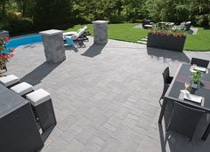 Rinox is a concrete products manufacturer offering innovative and durable pavers, bricks, slabs, stones, and retaining walls throughout Canada and the United States. Pierre Decorative, Outdoor Stone, Landscaping Supplies, Modern Backyard, Stone Veneer, Zuko, Cladding, Concrete, Brick