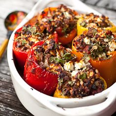Greek Stuffed Peppers from @Chaos in the Kitchen