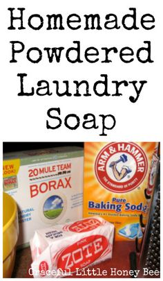 Did you know you can make your own laundry soap for way cheaper than store-bought? This recipe works great and lasts for months!