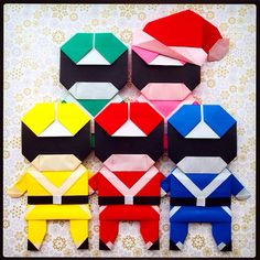 origami: at least somebody tries to keep the festive spirit intact!(≧∇≦)Super Sentai! Power Rangers!! スーパー戦隊 〜 パワーレンジャー