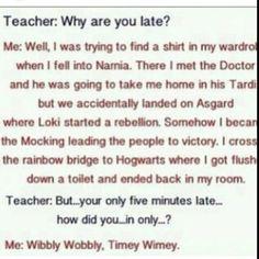 WIBBLY WOBBLY TIMEY WHIMEY TEACHER