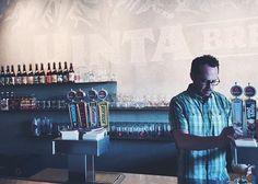 Steve Mills, CEO of @uintabrewing pouring a fresh one! #BevForce visits #SaltLakeCity!