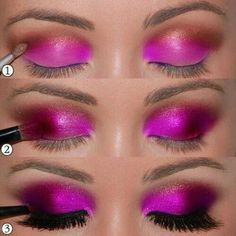 pink eye makeup. love-