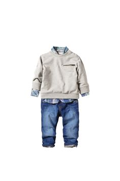 Zara is another great brand.  Any baby boy would look adorable in this sweet outfit!