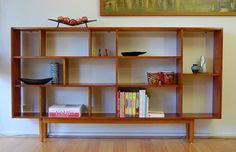 Retro Danish Modern Solid Tassie Oak Bookshelf