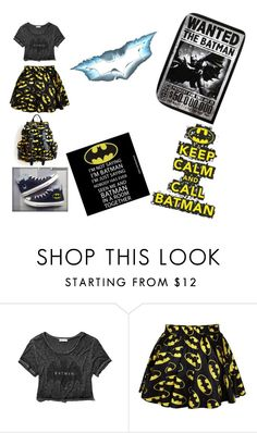 """""""The bat in me"""" by meyou-ii ❤ liked on Polyvore featuring Abercrombie & Fitch, Retrò, Converse and Humör"""