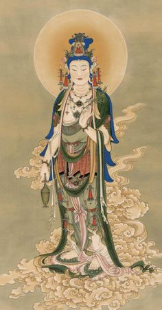 In Buddhism, compassion is embodied in the bodhisattva Guanyin (Kuan Yin) who is said to manifest wherever beings need help. The Hearer of Cries. Posted by Sifu Derek Frearson. Budha Art, Tantra Art, Japanese Drawings, Buddha Zen, Buddha Painting, Tibetan Art, Buddhist Art, Japan Art, Fantastic Art
