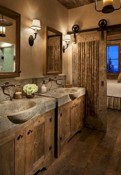 Inspiration Photo of Best Rustic Farmhouse Bathroom Flooring Ideas. Best Rustic Farmhouse Bathroom Flooring Ideas 31 Best Rustic Bathroom Design And Decor Ideas For 2018 Rustic Bathroom Designs, Rustic Bathroom Vanities, Rustic Bathroom Decor, Bathroom Design Small, Bathroom Ideas, Rustic Decor, Barn Bathroom, Vanity Bathroom, Bathroom Renovations