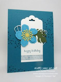 Beautiful Floral Tag Card created with Botanical Blooms stamp set and Botanical Builders Framelits …#stampyourartout #stampinup - Stampin' Up!® - Stamp Your Art Out! www.stampyourartout.com