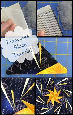 Fireworks Block tutorial - how to piece it!