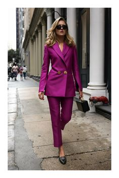 - top fall fashion trends power suit suiting work wear pant suit petar petrov net-a-porter style - Office Fashion Women, Work Fashion, Fashion Looks, Womens Fashion, Fashion Trends, Style Fashion, Ladies Fashion, Classy Fashion, Fashion Ideas