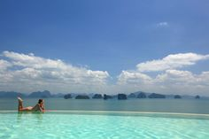 The infinity edge pool overlooking Phang Nga Bay at Six Senses Yao Noi, Thailand Hotels And Resorts, Best Hotels, Bangkok, Audley Travel, Relax, Hotel Pool, All I Ever Wanted, Island Resort, Honeymoon Destinations